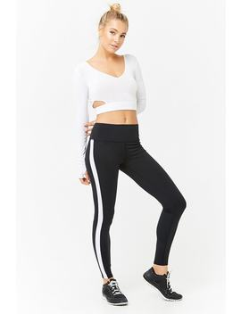 Active Contrast Stripe Leggings by F21 Contemporary
