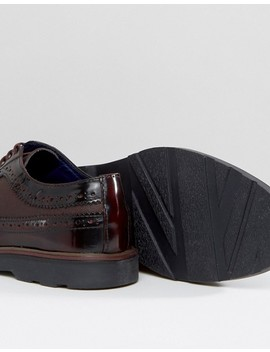 Silver Street Soho Brogues In Bordo Leather by Shoes