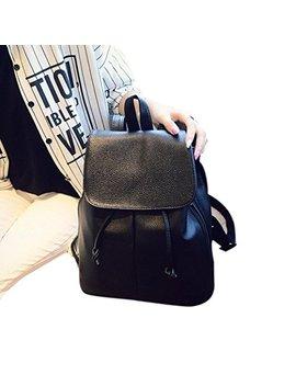 Ama(Tm) Women Leather Shoulder Bag Travel Camping Backpacks Schoolbags by Ama(Tm)