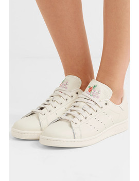 Stan Smith Embroidered Leather Sneakers by Adidas Originals