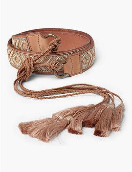 Beaded Waist Tie Belt by Lucky Brand