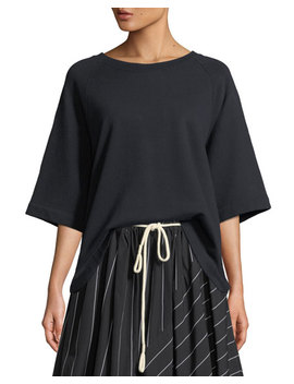 Boxy Short Sleeve Pullover Top by Vince