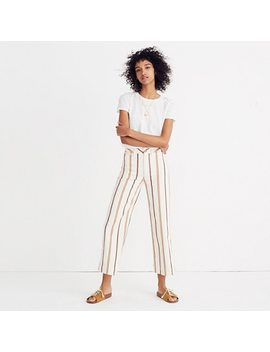 Emmett Wide Leg Crop Pants In Antique Coral Stripe by Madewell