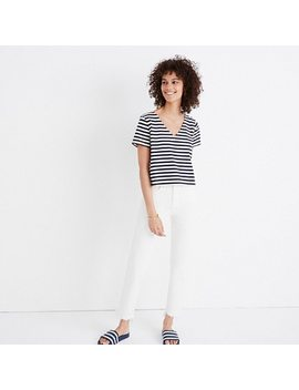 Setlist Boxy Top In Marton Stripe by Madewell