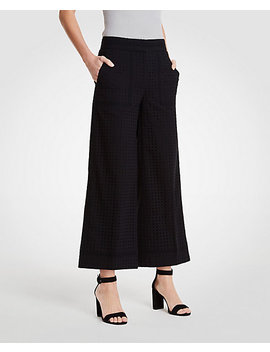 The Eyelet Wide Leg Marina Pant by Ann Taylor
