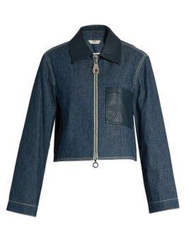 Point Collar Patch Pocket Denim Jacket by Edun