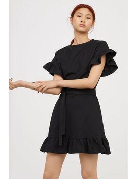 Jerseykleid Mit Volants by H&M