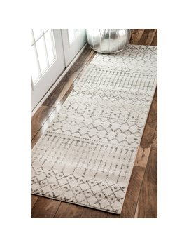 The Curated Nomad Ashbury Moroccan Trellis Ivory Runner Rug (2'8 X 8') by The Curated Nomad