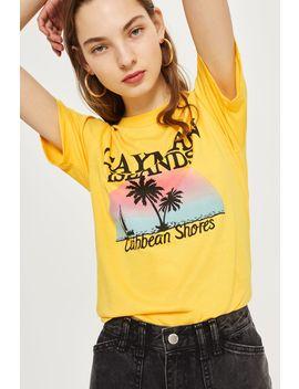 'cayman Island' Print T Shirt by Topshop