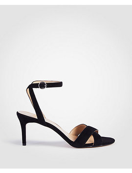 Judith Suede Kitten Heeled Sandals by Ann Taylor