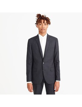 Ludlow Suit Jacket With Double Vent In Charcoal American Wool by J.Crew