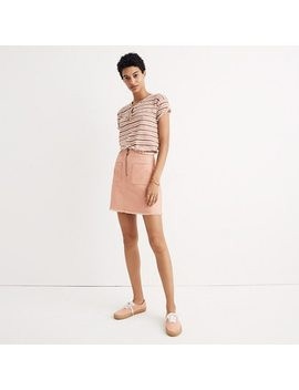 A Line Zip Skirt by Madewell