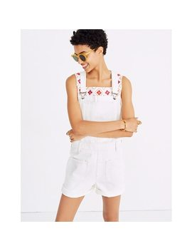 Adirondack Short Overalls In Tile White by Madewell