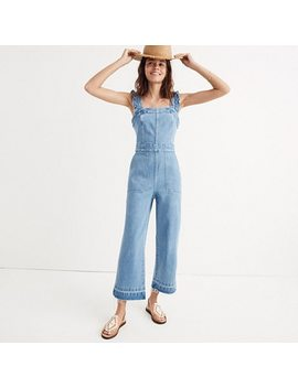 Denim Ruffle Strap Jumpsuit by Madewell