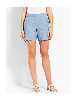 Scallop Short   Chambray by Talbots