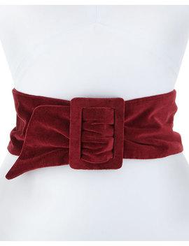 Lisea Velvet Corset Belt by Deborah Drattell