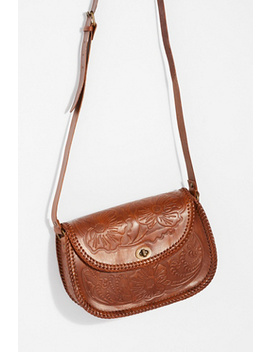 Tooled Leather Crossbody by Free People