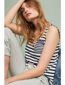 Striped Pocket Tank by Maeve