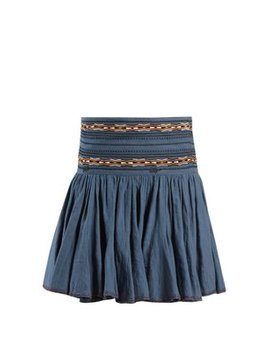 Breeda Embroidered Gathered Cotton Skirt by Isabel Marant Étoile