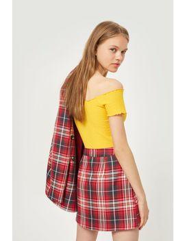 Summer Check Pelmet Skirt by Topshop