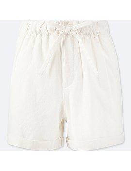 Short Mélange Coton Lin Femme by Uniqlo