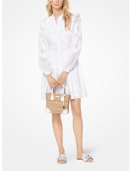 floral-appliqué-lace-dress by michael-michael-kors