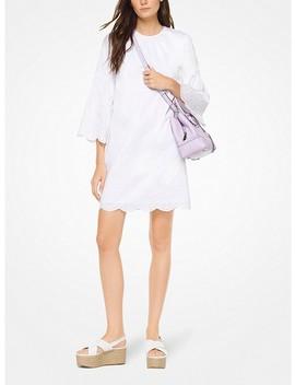 Eyelet Cotton Poplin Dress by Michael Michael Kors