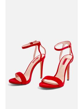 Rapture Red Two Part Skinny Heeled Sandals by Topshop