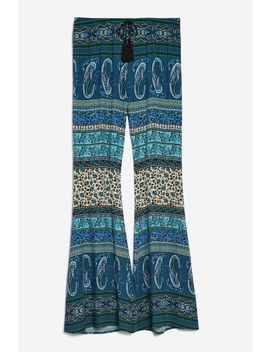 Printed Flared Trousers By Band Of Gypsies by Topshop