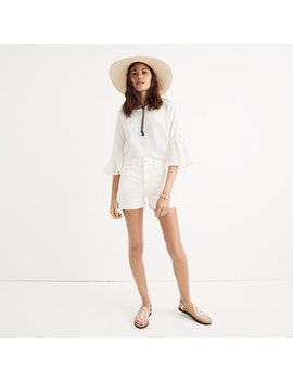 High Rise Denim Shorts In Tile White by Madewell