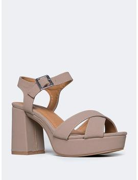 Ankle Strap Platform Sandal by Zooshoo