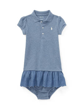 Eyelet Polo Dress & Bloomer by Ralph Lauren Childrenswear