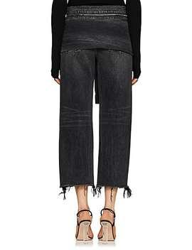 Stack Tie Crop Wide Leg Jeans by Denim X Alexander Wang