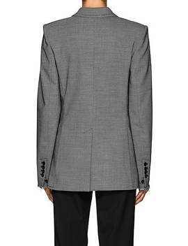 Wool Blend Two Button Blazer by Helmut Lang