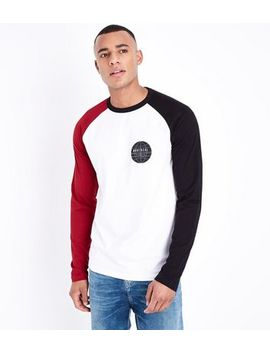 Red Montreal Slogan Raglan Sleeve T Shirt by New Look