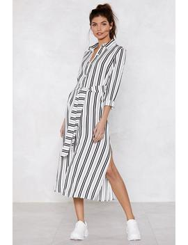 Let's Get Something Straight Striped Dress by Nasty Gal
