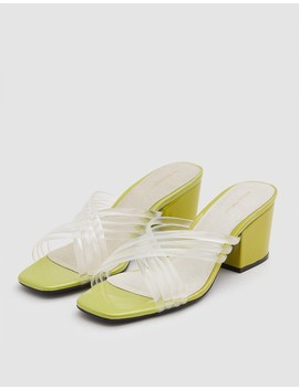 Hunter New Heel In Clear/Lime by Need Supply Co.