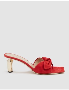 Lottie Ribbon Heel In Red/Gold by Need Supply Co.