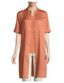 Randi Button Front Gemma Cloth Tunic by Lafayette 148 New York