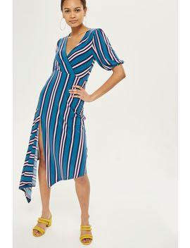Striped Side Split Dress by Topshop