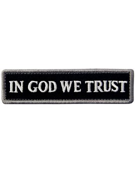 In God We Trust Embroidered Tactical Morale Fastener Hook&Loop Patch   White & Black by Amazon