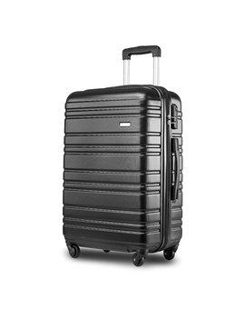 "Merax ® Lightweight Hard Shell 4 Wheel Travel Trolley Suitcase Luggage Set Holdall Cabin Case (20"", Black) by Amazon"
