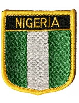 Nigeria Embroidered Shield Flag Patch by Amazon