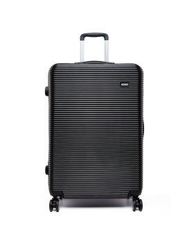 """Kono 20"""" Suitcase 4 Wheels Spinner Hardshell Pc Luggage Case For Travel (20"""" Black) by Amazon"""