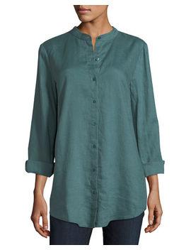 Organic Linen Tunic Shirt by Eileen Fisher