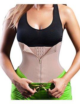 Chumian 3 Clip&1 Zip 6 Steel Boned Waist Trainer Corset Sport Workout Body Shaper Tummy Control by Amazon