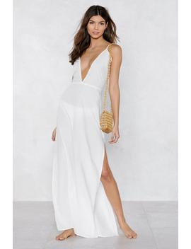 Beaches Rule Maxi Cover Up Dress by Nasty Gal
