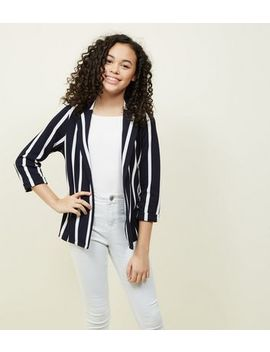 Teens Navy Stripe Blazer by New Look