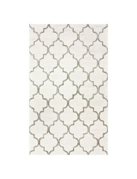 Off White Abstract Tufted Area Rug   (5'x8') by Nu Loom