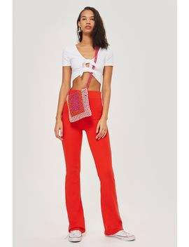 Side Striped Flare Trousers by Topshop
